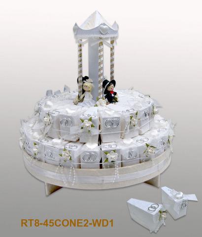 Dragees Spender Hochzeitstorte 45 Ballotins : Verpackung für feste