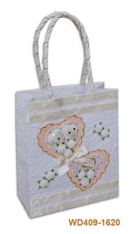 Geschenktasche Handkraft 2Herzchen : Ladentaschen einkaufstaschen modetaschen