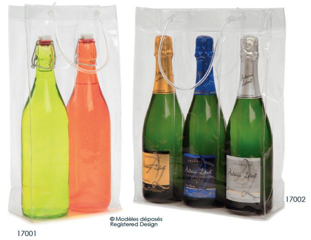 Flaschentasche 2/3 Flaschen 'Transline' : Verpackung fur flaschen und regionalprodukte