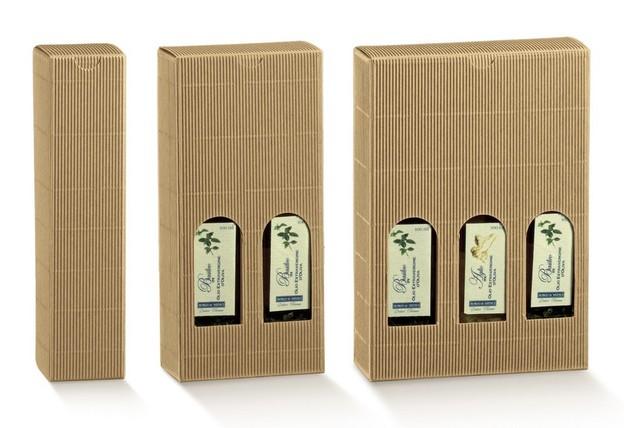 Geschenkkarton 1/2/3 Flaschen 20/25 cl. H.24 cm : Verpackung fur flaschen und regionalprodukte