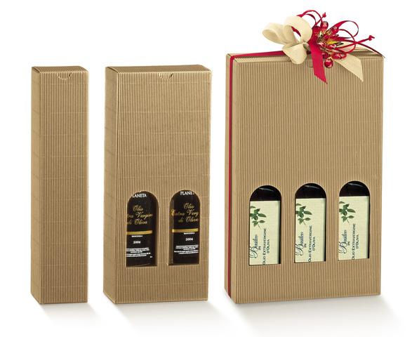 Geschenkkarton 1/2/3 Flaschen 75/100 cl H. 32 cm : Verpackung fur flaschen und regionalprodukte