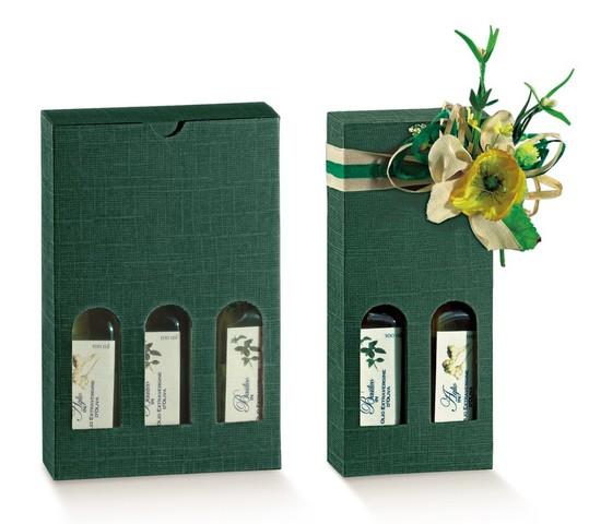 Geschenkkarton 2/3 Flaschen 25 cl H. 21,5 cm : Verpackung fur flaschen und regionalprodukte