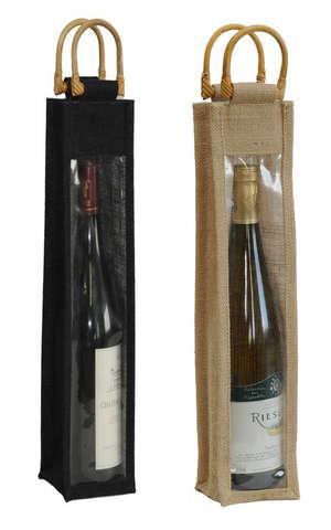 Flaschentasche Jute 1-Flasche Elsässer : Verpackung fur flaschen und regionalprodukte