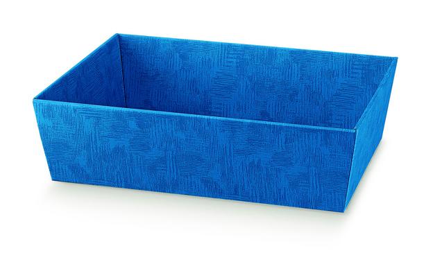 Geschenkkorb Pappe viereckig blau : Korb geschenkkorb