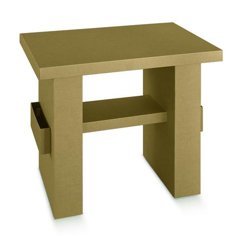 Tisch aus Karton : Pappmöbel einrichtung aus karton