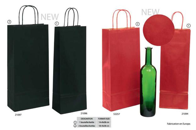 Geschenktasche Pappe gerippt 1/2-Flaschen Wein : Verpackung fur flaschen und regionalprodukte