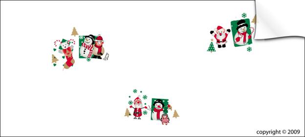 Rolle Klarsichtfolie PP m.Motiv 'Weihnachten' : Verpackungzubehör