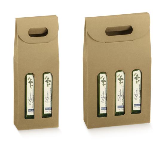 Geschenkkarton 2/3 Flaschen 50/75 cl : Verpackung fur flaschen und regionalprodukte