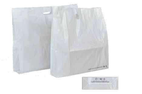 Faltbeutel Plastik weiss  : Ladentaschen einkaufstaschen modetaschen