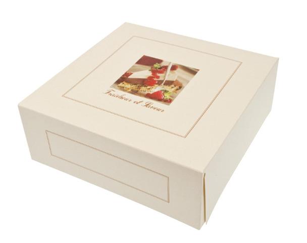 Tortenkarton  Elfenbein-weiß Höhe 8 cm : Geschenkschachtel präsentbox