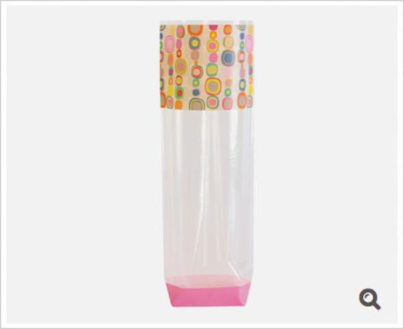 Klarsichtbeutel Kreuzboden PP o. Zellglas 'Pop Art' : Verpackung für bäkerei konditorei