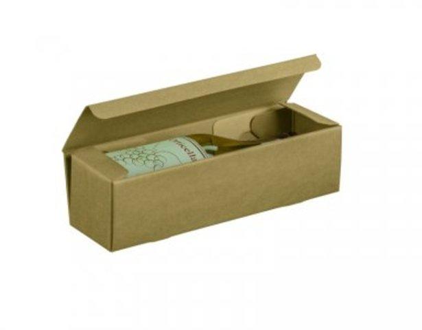 Flaschenkarton 1-Fl. Wein naturbraun : Verpackung fur flaschen und regionalprodukte
