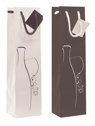 Geschenktasche Kraft 1-Fl. Wein 'Amazon' : Verpackung fur flaschen und regionalprodukte