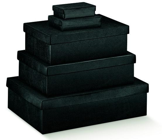 Pappschachtel 2-tlg schwarz : Geschenkschachtel präsentbox