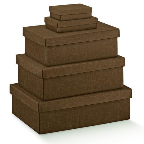 Pappschachtel 2-tlg braun : Geschenkschachtel präsentbox