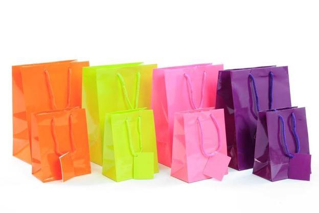 Tragetasche farbig glanzlaminiert : Verpackung für glasbehälter konfitürenglas preserve