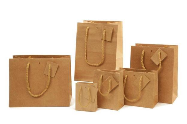 Kraft-Tragetasche naturbraun m. Tragekordel 'Chic Nature' : Verpackung für einmachgläser konfitürenglas preserve