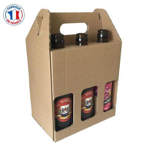 Geschenkkarton 6-Fl. Bier 33cl : Verpackung fur flaschen und regionalprodukte