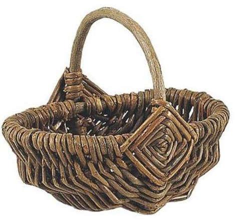 Mini Deko Handkorb rund Weide natur : Korb geschenkkorb