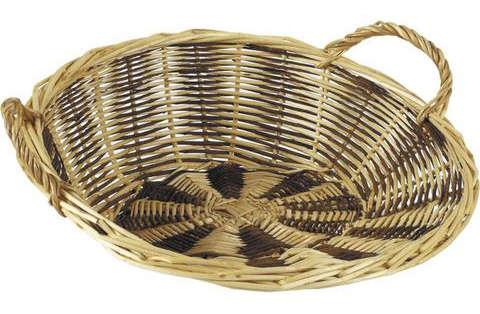 Präsentkorb Weide 2-farbig rund : Korb geschenkkorb präsentierungskorb