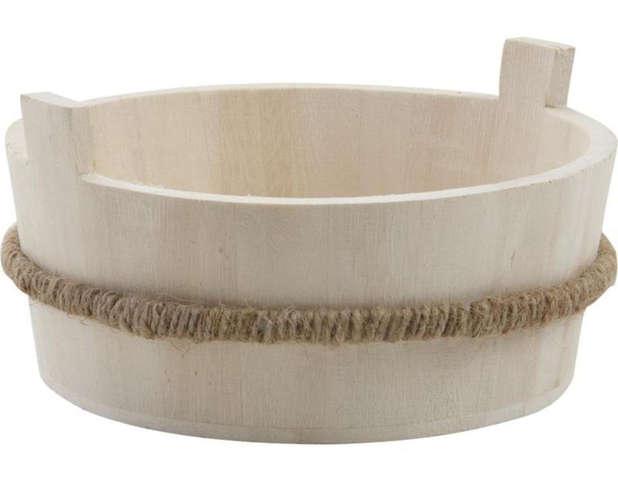 Deko Holzeimer Ø19 H.7 cm : Korb geschenkkorb präsentierungskorb
