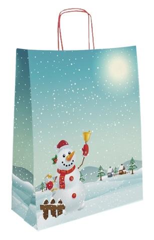 Krafttasche blau Schneemann : Ladentaschen einkaufstaschen modetaschen