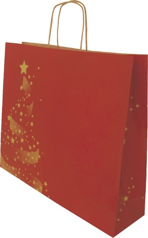 Krafttasche rot Weihnachtsglanz : Ladentaschen einkaufstaschen modetaschen
