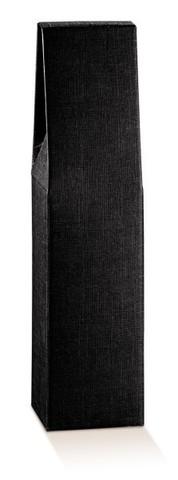 Flaschenkarton schwarz 1-Flasche stehend 'Milano' : Verpackung fur flaschen und regionalprodukte
