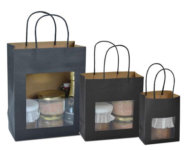 Krafttasche schwarz m. Fenster : Verpackung für glasbehälter konfitürenglas preserve