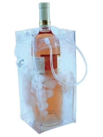 Icebag Pro transparent m. Henkeln : Verpackung fur flaschen und regionalprodukte