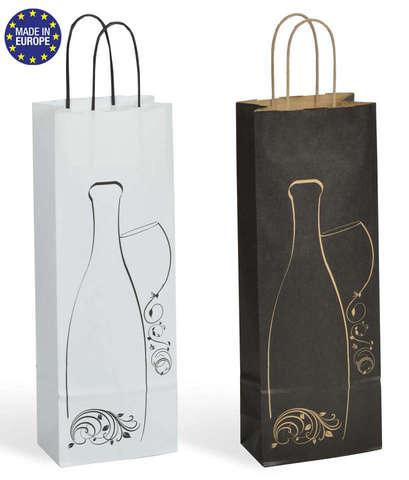 Flaschentasche Kraft Design 1-Flasche : Verpackung fur flaschen und regionalprodukte