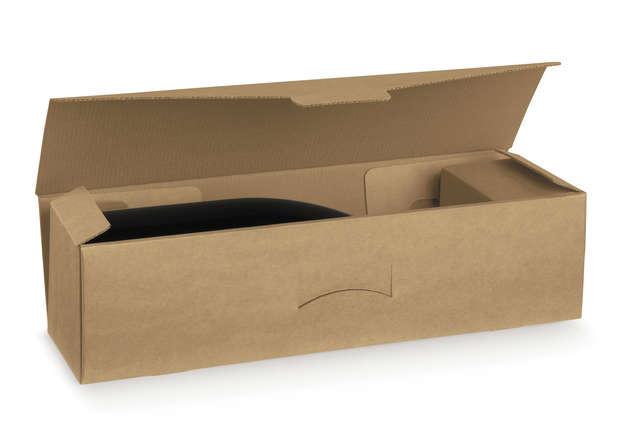 Flaschenkarton braun 1-Flasche Magnum liegend 'Avana' : Verpackung fur flaschen und regionalprodukte
