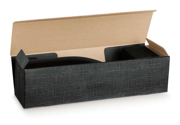 Geschenkschachtel Pappe m. Deckel 1-Flasche Magnum liegend : Verpackung fur flaschen und regionalprodukte