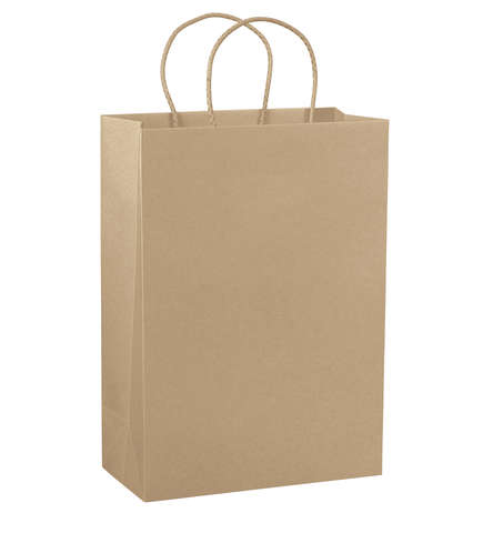Flaschentasche Einkaufstasche Kraft naturbraun glatt : Ladentaschen einkaufstaschen modetaschen