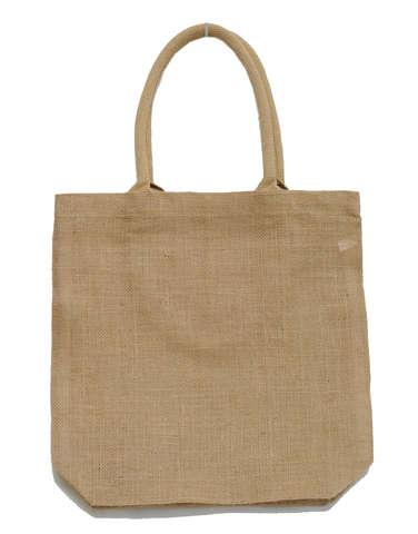 Einkaufstasche Shopper Jute naturbraun m. Baumwollen-Rundgriffen : Ladentaschen einkaufstaschen modetaschen
