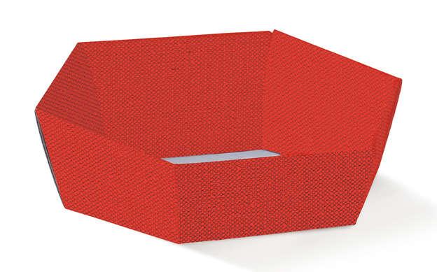 Pappkorb rot 6-kant : Korb geschenkkorb präsentierungskorb