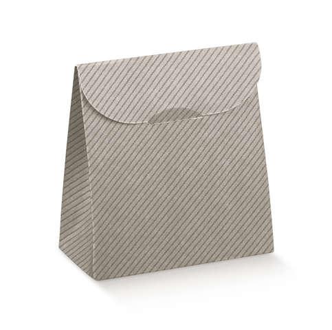 Geschenktasche Pappe grau-silber  : Ladentaschen einkaufstaschen