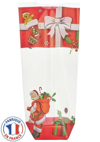 Blockbodenbeutel klarsicht PP 'Weihnachten' - 100 St. : Verpackung für feste