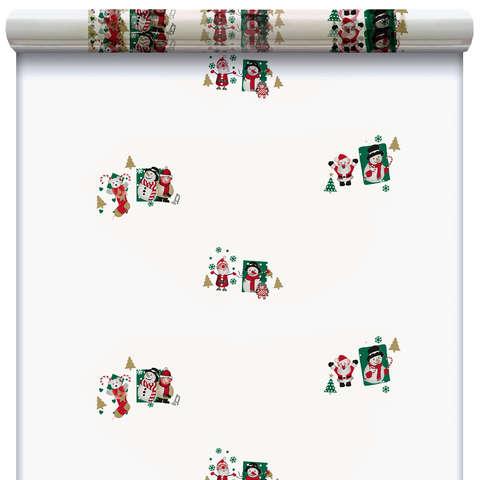 Rolle Klarsichtfolie PP m.Motiv 'Weihnachtsmännchen' : Verpackungzubehör