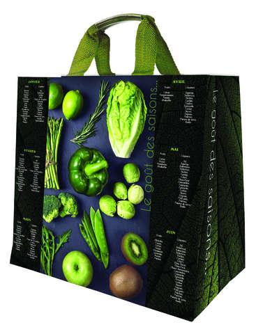 Shopper Einkaufstasche 30L PP schwarz bedruckt 'rotes Gemüse'' : Ladentaschen einkaufstaschen modetaschen