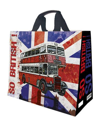 Shopper Einkaufstasche 33L PP bedruckt 'so British!' : Ladentaschen einkaufstaschen modetaschen