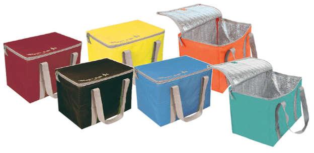 Isoliertasche viereckig 23L Polyester m. Reissverschluss : Ladentaschen einkaufstaschen modetaschen