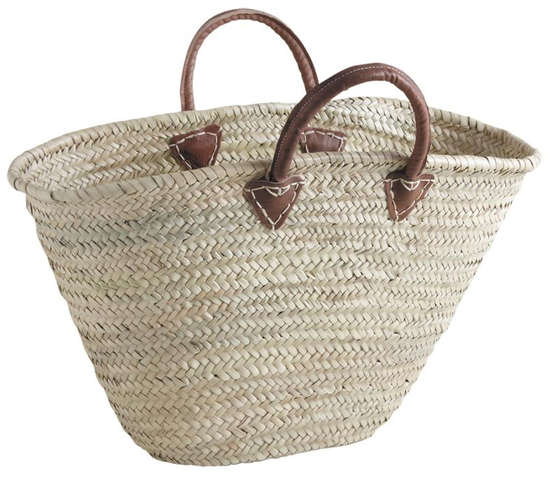 Einkaufskorb Palmblatt m. kurzen Henkeln : Ladentaschen einkaufstaschen modetaschen