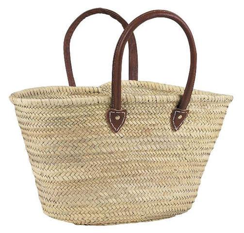 Einkaufskorb Palmblatt m. langen Henkeln : Ladentaschen einkaufstaschen modetaschen