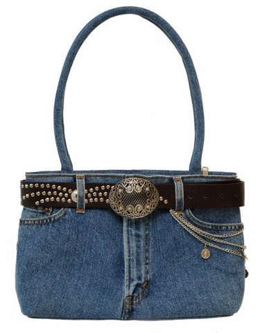 Jeanstasche m. langen Henkeln : Ladentaschen einkaufstaschen modetaschen