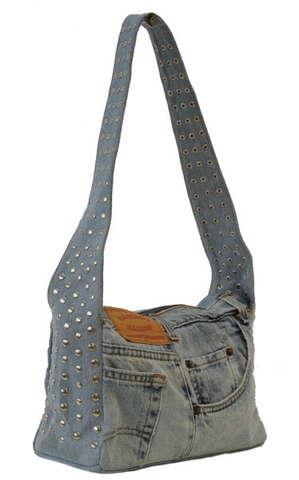 Jeanstasche m. Schulterband : Ladentaschen einkaufstaschen modetaschen