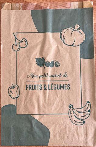 Kraftbeutel bedruckt Obst & Gemüse 3Kg m. Fenster - 1.000 St. : Verpackung für bäkerei konditorei