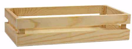 Geschenkkiste Holz viereckig 'Obstkiste' : Korb geschenkkorb präsentierungskorb
