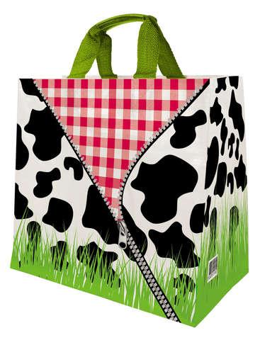Shopper Einkaufstasche 30L PP bedruckt 'Kuhfell' : Ladentaschen einkaufstaschen modetaschen