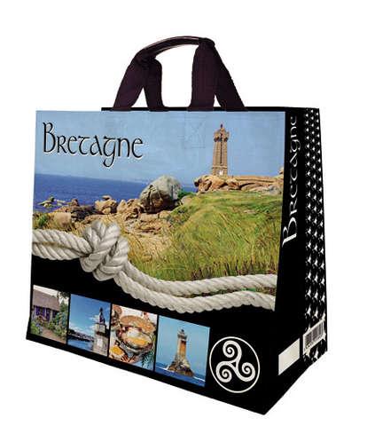 Shopper Einkaufstasche 33L PP gedruckt 'Bretagne' : Ladentaschen einkaufstaschen modetaschen